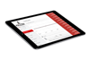 Fuel Management software on tablet